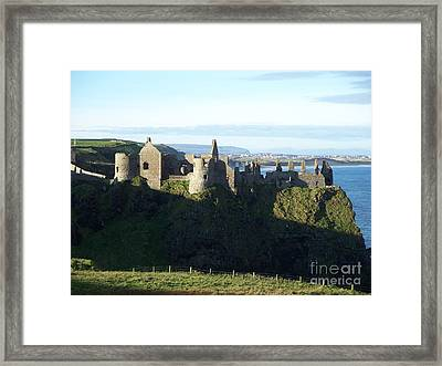 Framed Print featuring the photograph Castle Ruins by Marilyn Zalatan