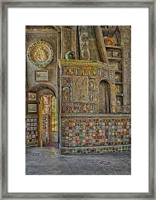 Castle Salon Framed Print by Susan Candelario