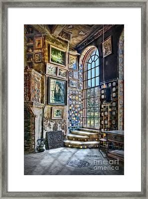 Castle Saloon Framed Print by Susan Candelario