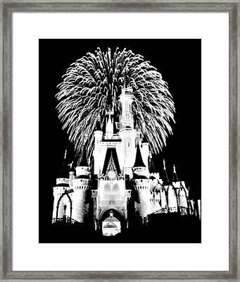 Castle Show Black And White Framed Print