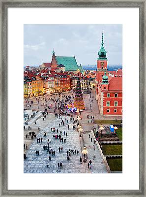 Castle Square In The Old Town Of Warsaw Framed Print by Artur Bogacki