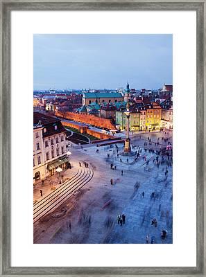 Castle Square In Warsaw Framed Print by Artur Bogacki