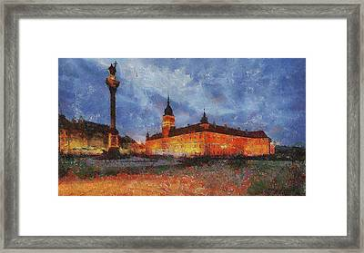 Castle Square In Warsaw Framed Print