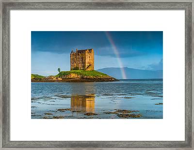 Castle Stalker Rainbow Framed Print by David Ross