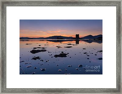 Loch Laich And Castle Stalker Framed Print by Rod McLean