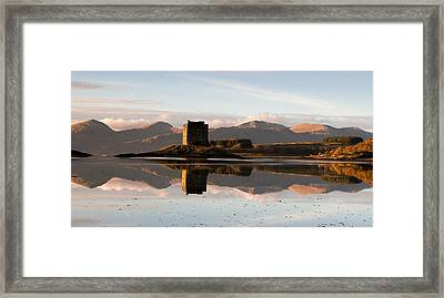 Castle Stalker - Sunset Framed Print by Pat Speirs