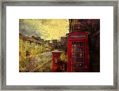 Castle Steet Conwy Framed Print by Mal Bray
