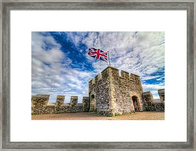 Framed Print featuring the photograph Castle Top by Tim Stanley