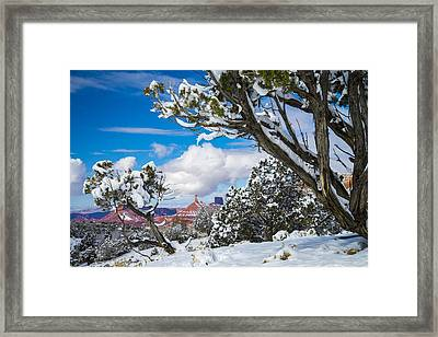 Castle Valley Framed Print by Dustin  LeFevre