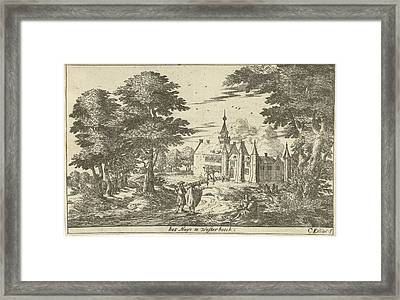 Castle Westerbeek, Cornelis Elandts Framed Print by Cornelis Elandts