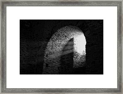 Castle Window Beams Framed Print by Karl Greeson