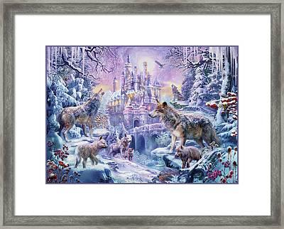 Castle Wolves Framed Print
