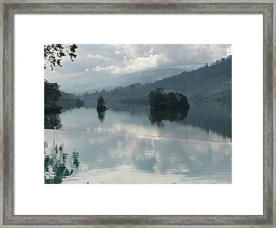 Castlereigh Reservoir Seen From Edge Framed Print by Panoramic Images