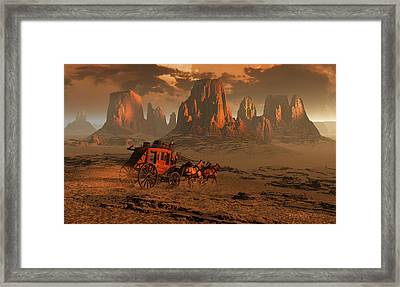 Castles In The Sand Framed Print by Dieter Carlton