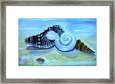 Framed Print featuring the painting Castles In The Sand by Leanne Seymour