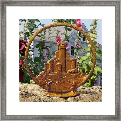 Framed Print featuring the pyrography Castles In The Sky by Doug Kreuger