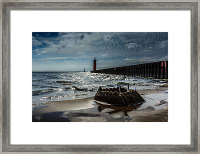 Castles Made Of Sand Fall To The Sea Eventually Framed Print by Randy Scherkenbach