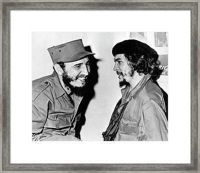 Castro And Guevara Framed Print