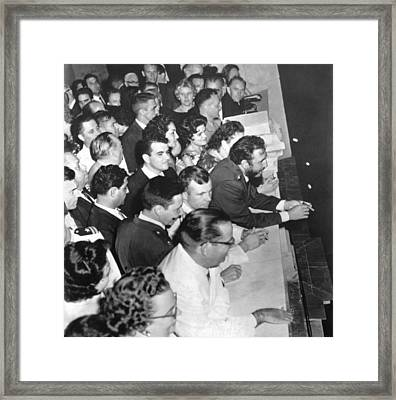 Castro Honors Yuri Gagarin Framed Print by Underwood Archives