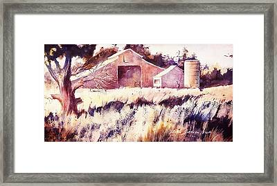 Framed Print featuring the painting Castroville Barn by John  Svenson