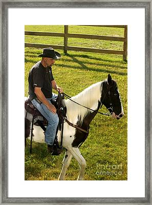Casual Ride Framed Print
