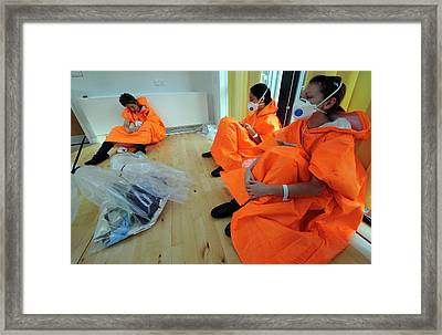 Casualties At Major Emergency Training Framed Print by Public Health England