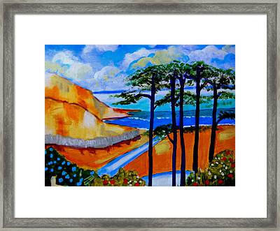 Caswell Bay Wales Framed Print