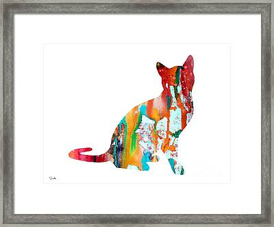 Cat 4 Framed Print by Watercolor Girl