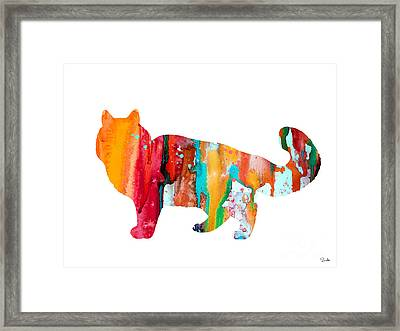 Cat 6 Framed Print by Watercolor Girl