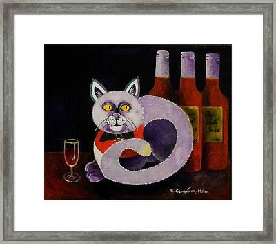 Cat-alcoholic Bar Cat Framed Print