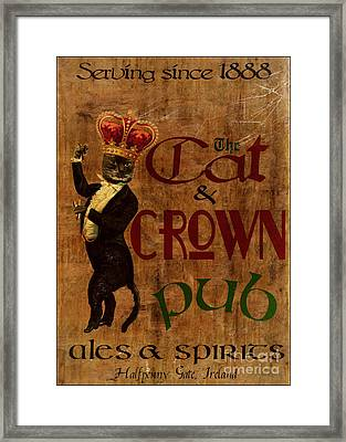 Cat And Crown Pub Framed Print by Cinema Photography