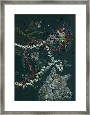 Cat And Mouse Framed Print by Dawn Fairies