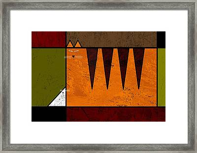 Cat And Mouse Framed Print by Kenneth North