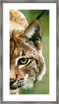 Cat Art - Lynx 2 Framed Print by Sharon Cummings