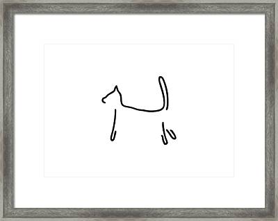 Cat As A Silhouette Framed Print by Lineamentum