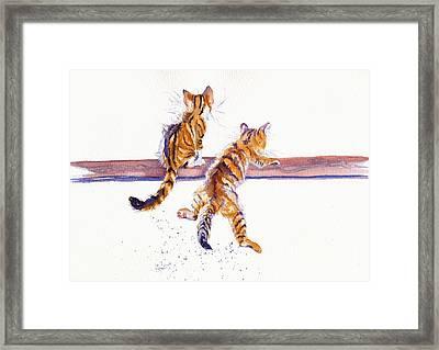 Cat-astrophe Framed Print