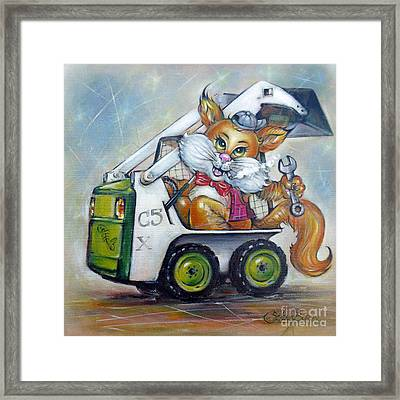 Cat C5x 190312 Framed Print