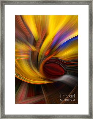Cat Eye Abstract Framed Print by T Lowry Wilson