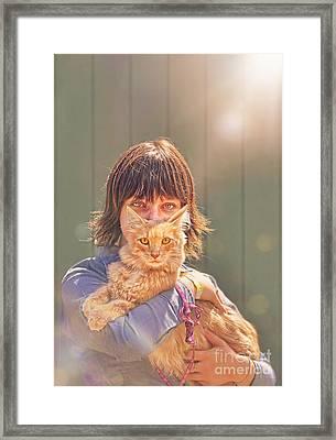 Cat Eyes Framed Print by Danilo Piccioni