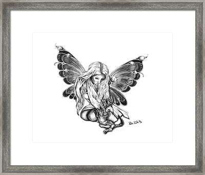 Cat Fairy  Framed Print