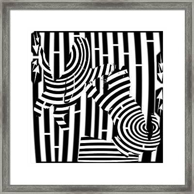 Cat Fight Maze Framed Print by Yonatan Frimer Maze Artist