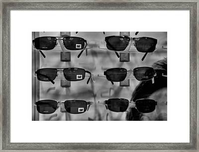 Framed Print featuring the photograph Cat Glasses And Izod by Bob Wall