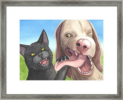Cat Got Your Tongue Framed Print by Catherine G McElroy