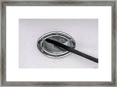 Framed Print featuring the photograph Cat Hole And Hawser No2 by Marty Saccone