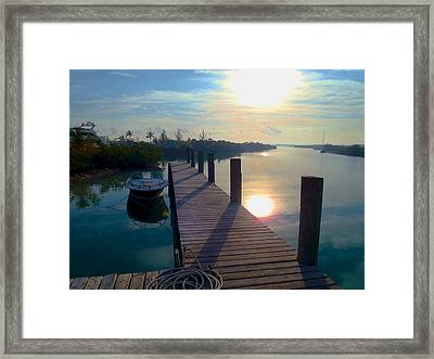 Cat Island Dock Framed Print