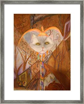 Cat Jester Framed Print