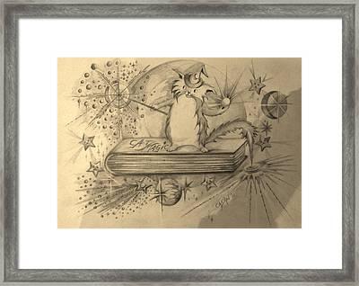 Cat Magic - Full Image Framed Print