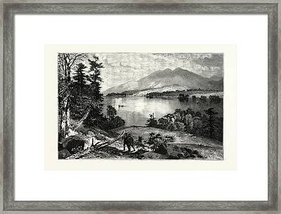 Cat Mountain, Lake George Usa Framed Print by American School