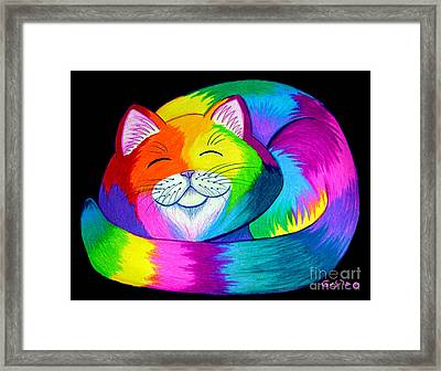 Cat Napping 2 Framed Print by Nick Gustafson