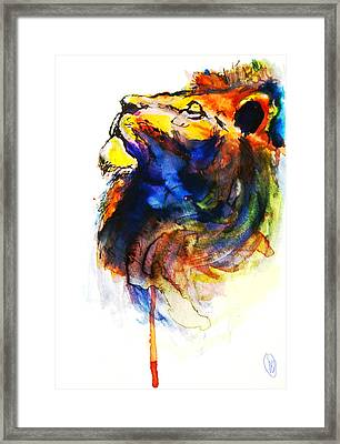 Cat Of A Different Color Framed Print